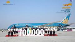 VATM chào đón chuyến bay điều hành thứ 700 nghìn năm 2016