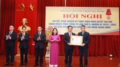 Hội nghị Sơ kết giữa nhiệm kỳ thực hiện Nghị quyết Đại hội Công đoàn Tổng công ty lần thứ II, nhiệm kỳ 2018-2023 và đón nhận Huân chương Lao động hạng Nhất