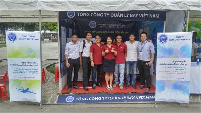 Đoàn thanh niên công ty Quản lý bay miền Nam tham dự tổ chức ngày hội tuyên truyền Văn hóa An toàn hàng không 2016 tại Gò Vấp