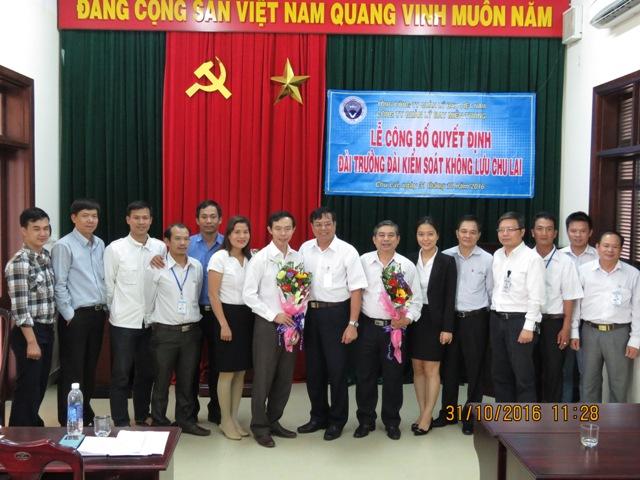 Công ty Quản lý bay miền Trung: Công bố Quyết định bổ nhiệm Đài trưởng Đài Kiểm soát không lưu Chu Lai