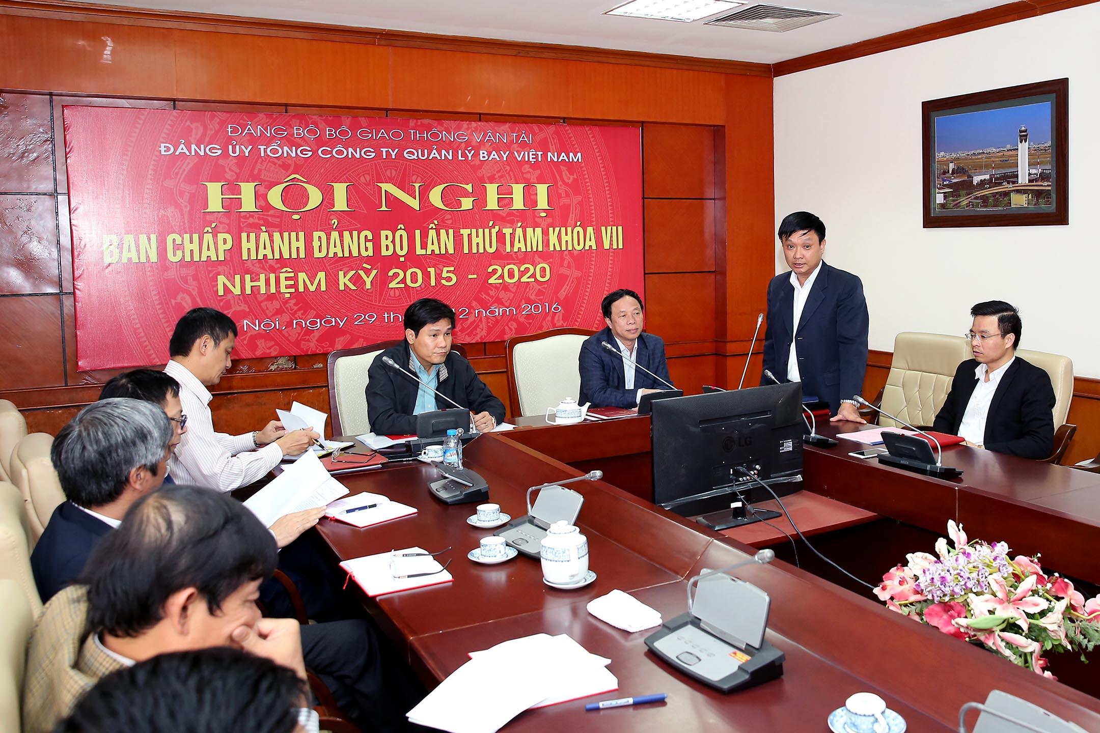 Hội nghị Ban Chấp hành Đảng bộ Tổng công ty Quản lý bay Việt Nam lần thứ tám khóa VII