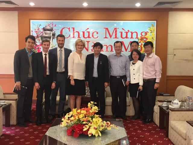Chủ tịch Hội đồng thành viên Đinh Việt Thắng tiếp xã giao Tân Phó Chủ tịch Tập đoàn Thales