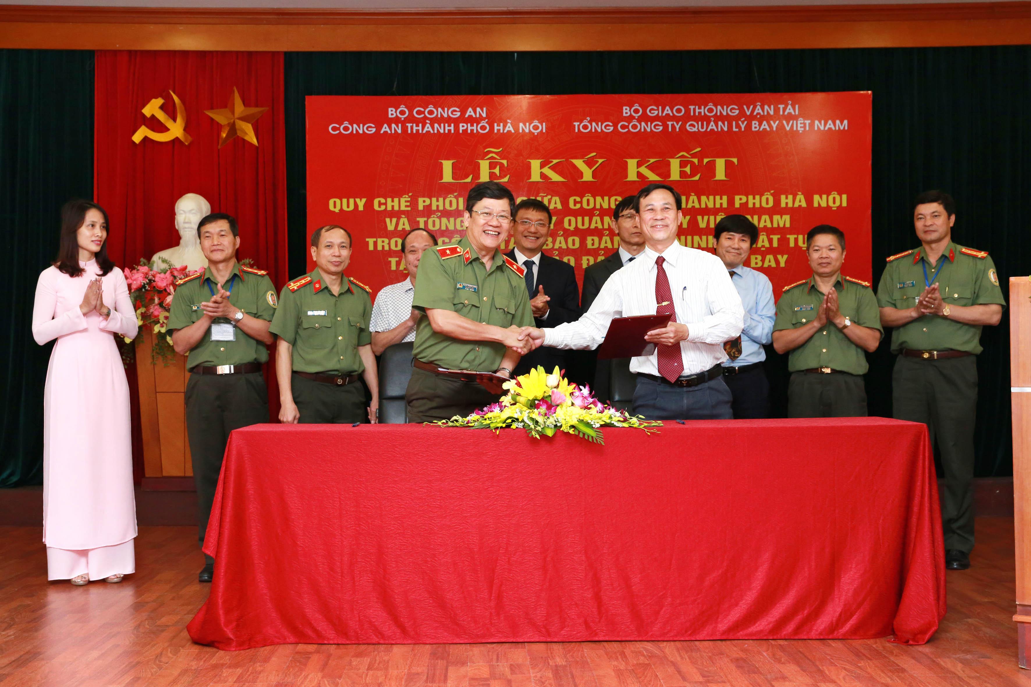 VATM ký kết Quy chế phối hợp với Công an Hà Nội về bảo đảm an ninh, trật tự tại các cơ sở điều hành bay