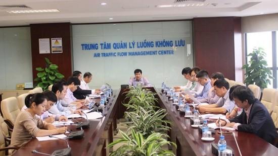Hội nghị kiểm tra Đảng ủy Trung tâm Quản lý luồng không lưu