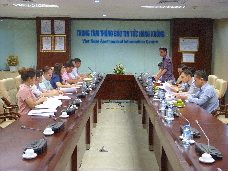 Hội nghị giám sát Đảng ủy Trung tâm Thông báo tin tức hàng không, đồng chí Bí thư Đảng ủy  và Chi bộ AIP