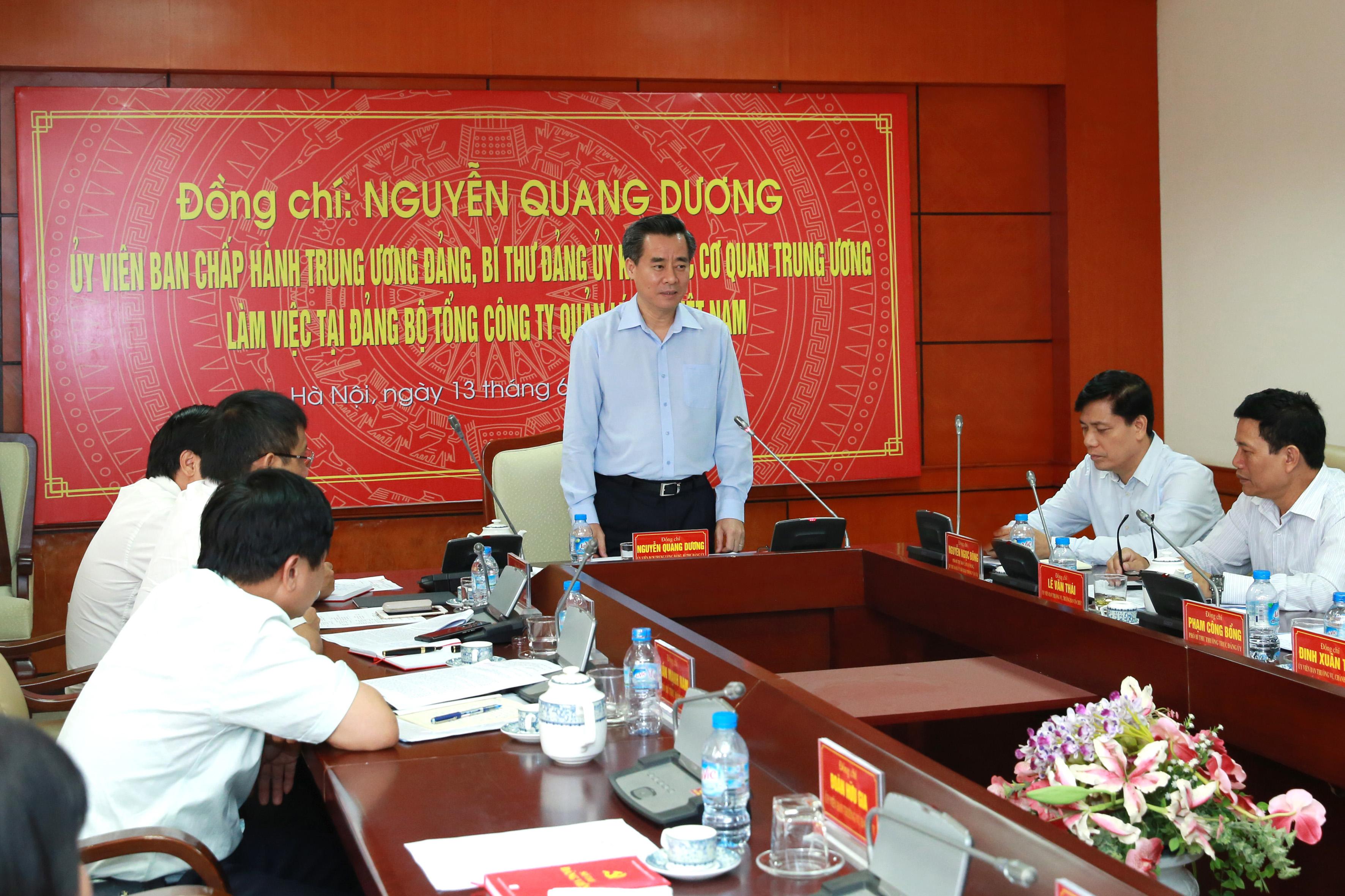 Bí thư Đảng ủy Khối các cơ quan Trung ương đến thăm và làm việc với Đảng ủy VATM