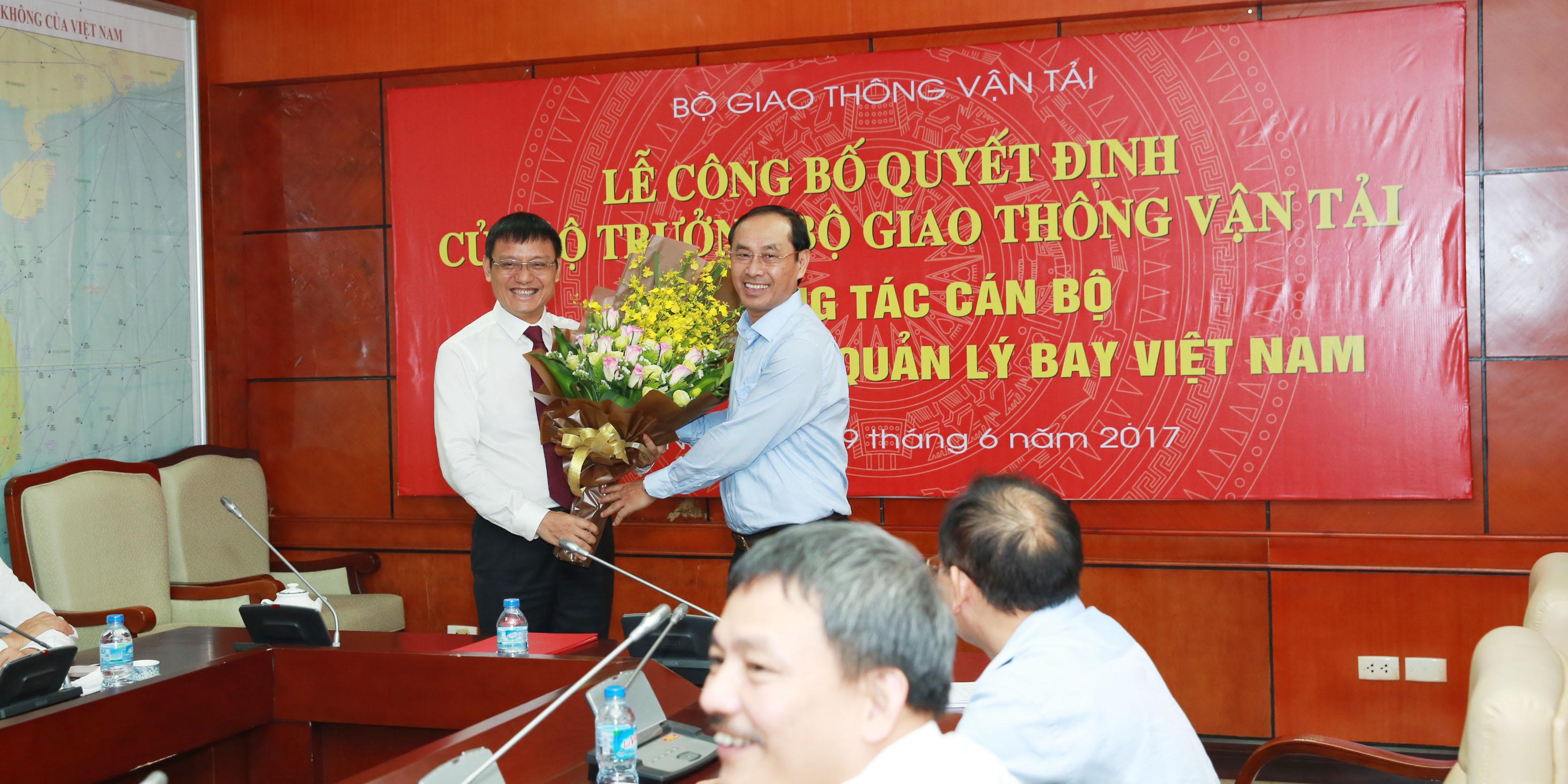 Lễ công bố Quyết định giao quyền Chủ tịch Hội đồng thành viên Tổng công ty Quản lý bay Việt Nam