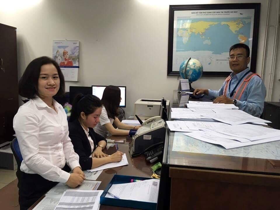 An toàn hàng không trong dịch vụ thông báo tin tức hàng không tại cảng hàng không, sân bay