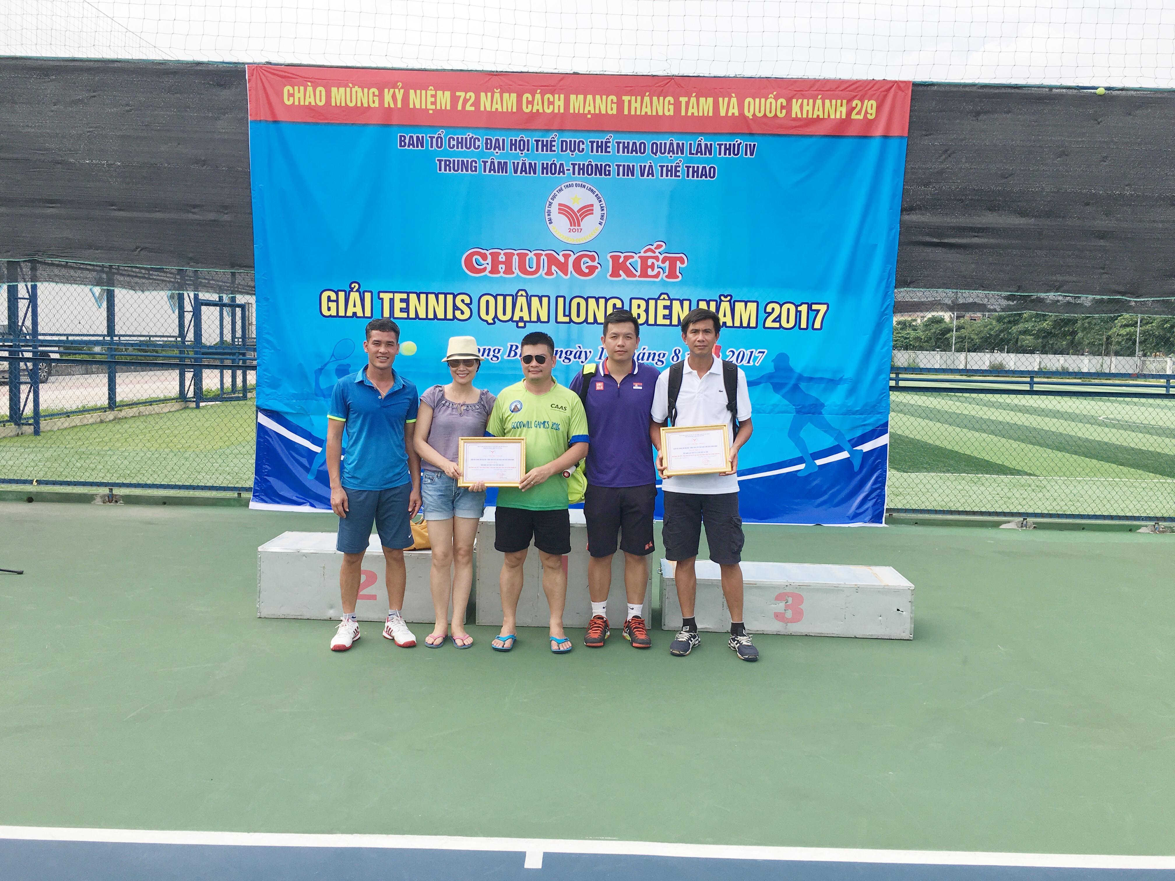 VATM tham gia giải Tennis quận Long Biên năm 2017