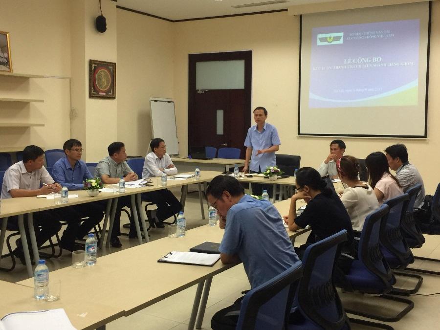 Cục Hàng không Việt Nam công bố kết luận thanh tra việc tuân thủ các quy định pháp luật chuyên ngành hàng không, về điều kiện cơ sở đào tạo, huấn luyện nghiệp vụ nhân viên hàng không