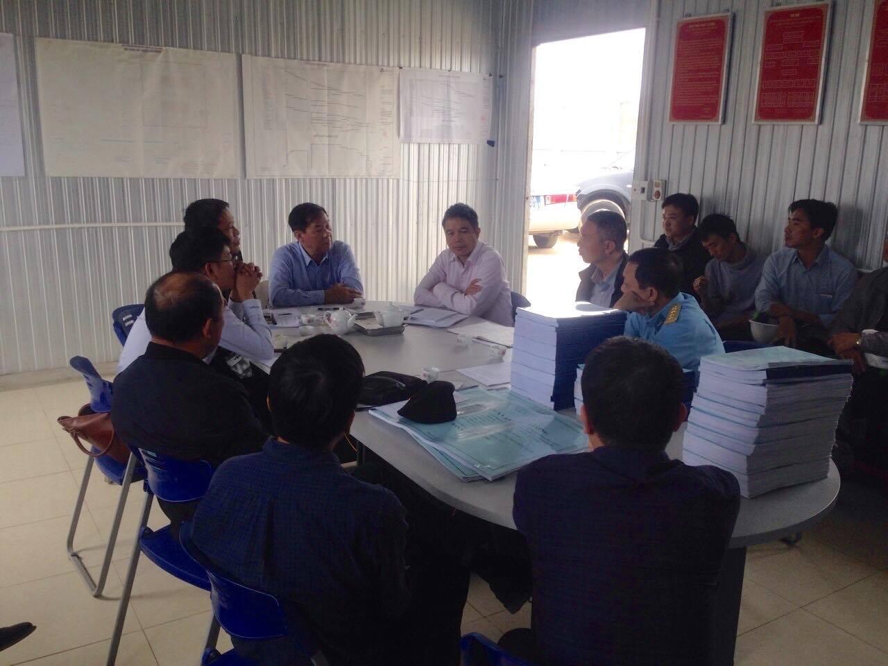 VATM - Tham gia Đoàn Kiểm tra công tác nghiệm thu trong quá trình thi công dự án công trình Đài Kiểm soát không lưu Thọ Xuân