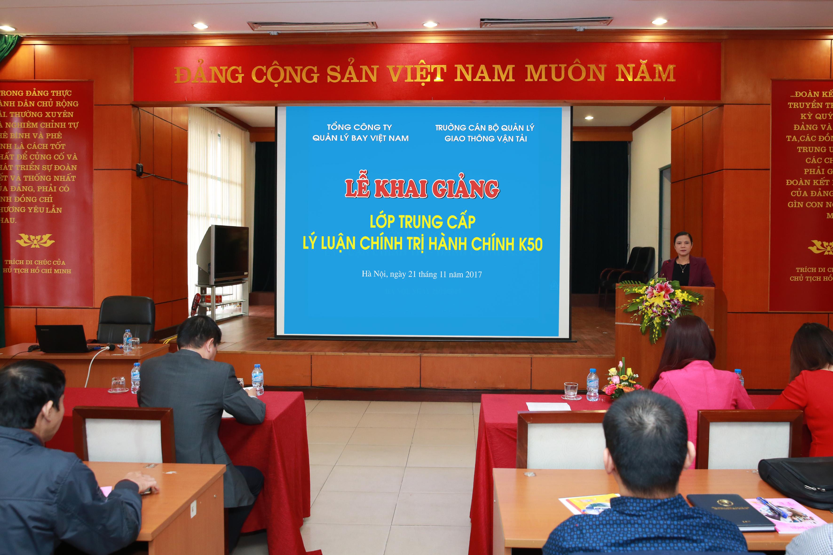 VATM: Khai giảng lớp Trung cấp Lý luận chính trị- Hành chính K50