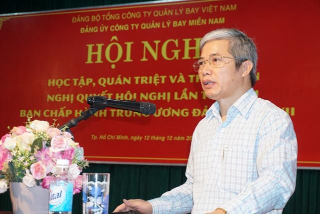 Công ty Quản lý bay miền Nam tổ chức Hội nghị học tập, quán triệt Nghị quyết Trung ương 6, khóa XII của Đảng