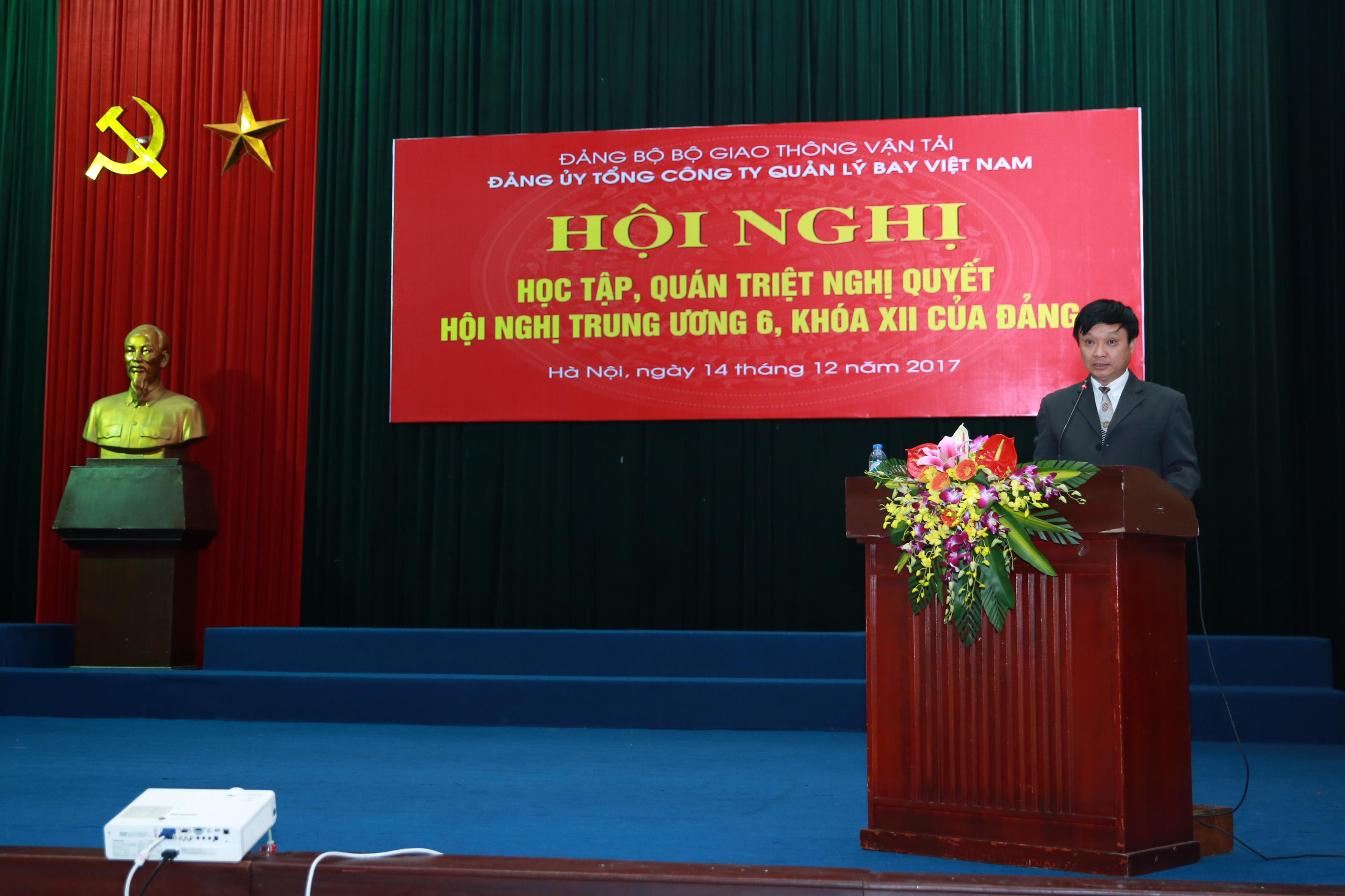 Đảng ủy Tổng công ty Quản lý bay Việt Nam tổ chức Hội nghị trực tuyến học tập, quán triệt, triển khai thực hiện Nghị quyết Trung ương 6, khóa XII của Đảng