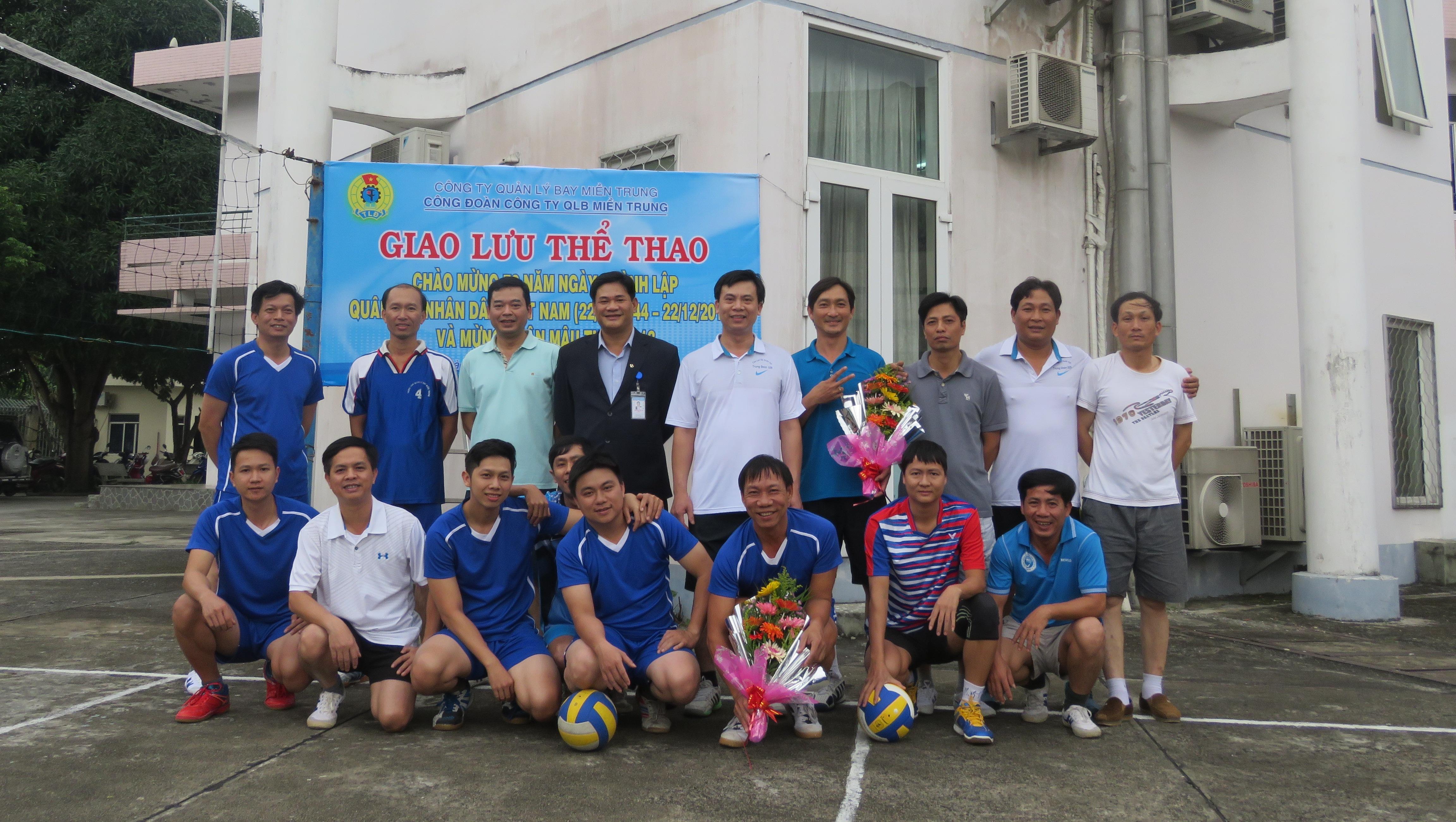 Hoạt động thể thao chào mừng Ngày Thành lập quân đội nhân dân Việt Nam tại Công ty Quản lý bay miền Trung