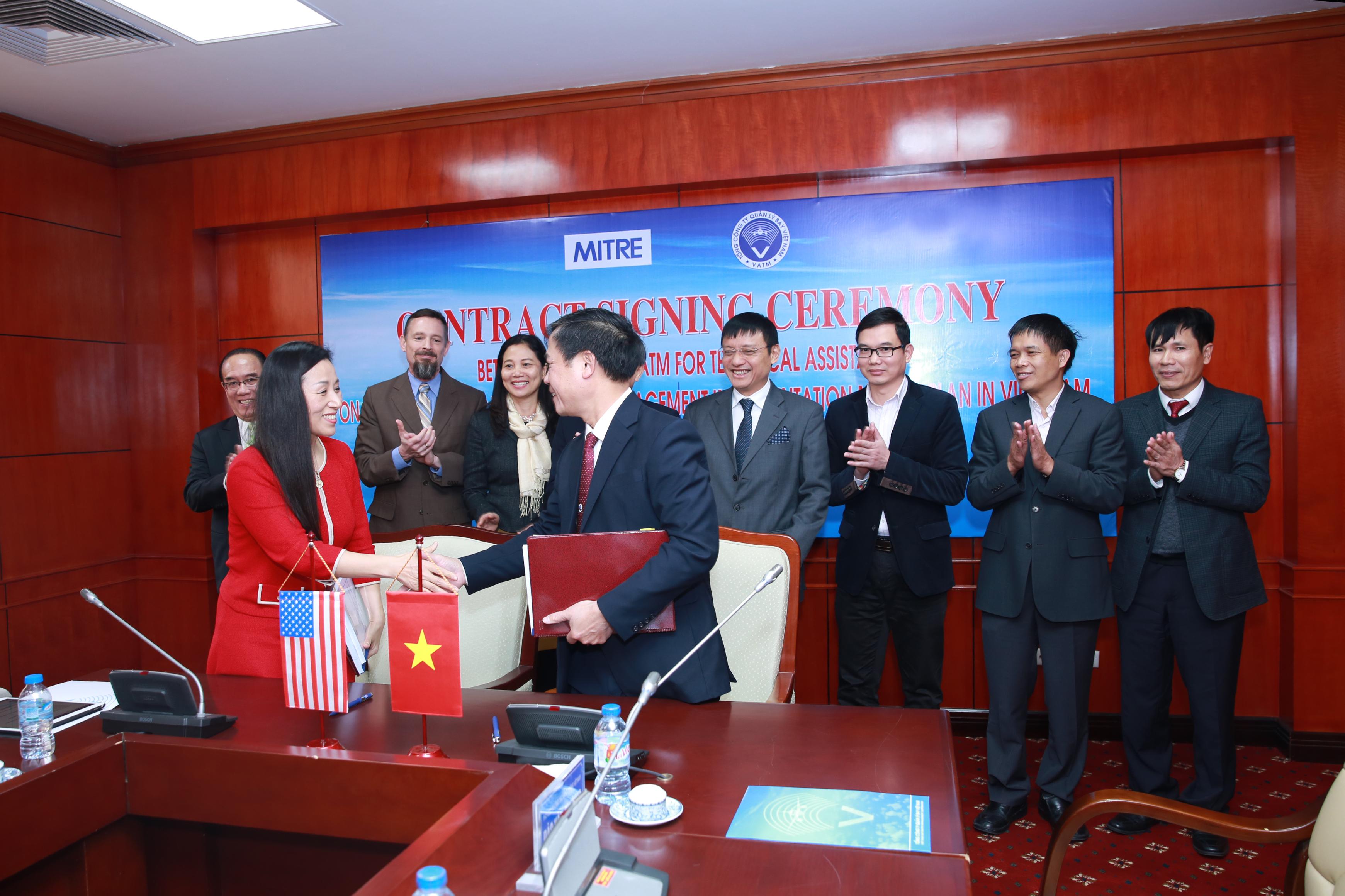 Thông tin báo chí về việc ký hợp đồng giữa Tổng công ty Quản lý bay Việt Nam và Tập đoàn Mitre, Hoa Kỳ