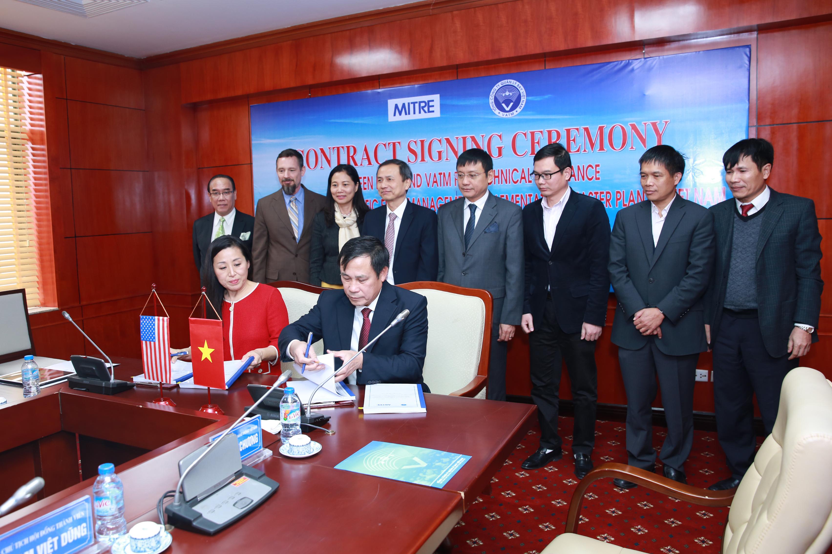 VATM ký hợp đồng với Tập đoàn Mitre, Hoa Kỳ