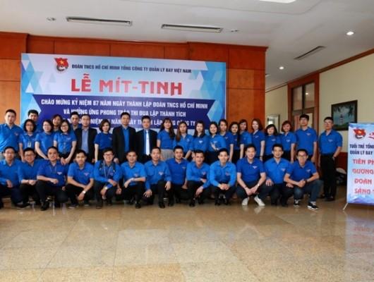 Đoàn thanh niên TCT: Mít – tinh chào mừng kỷ niệm 87 năm ngày thành lập Đoàn TNCS Hồ Chí Minh và hưởng ứng phong trào thi đua lập thành tích chào mừng kỷ niệm 25 năm ngày thành lập Tổng công ty