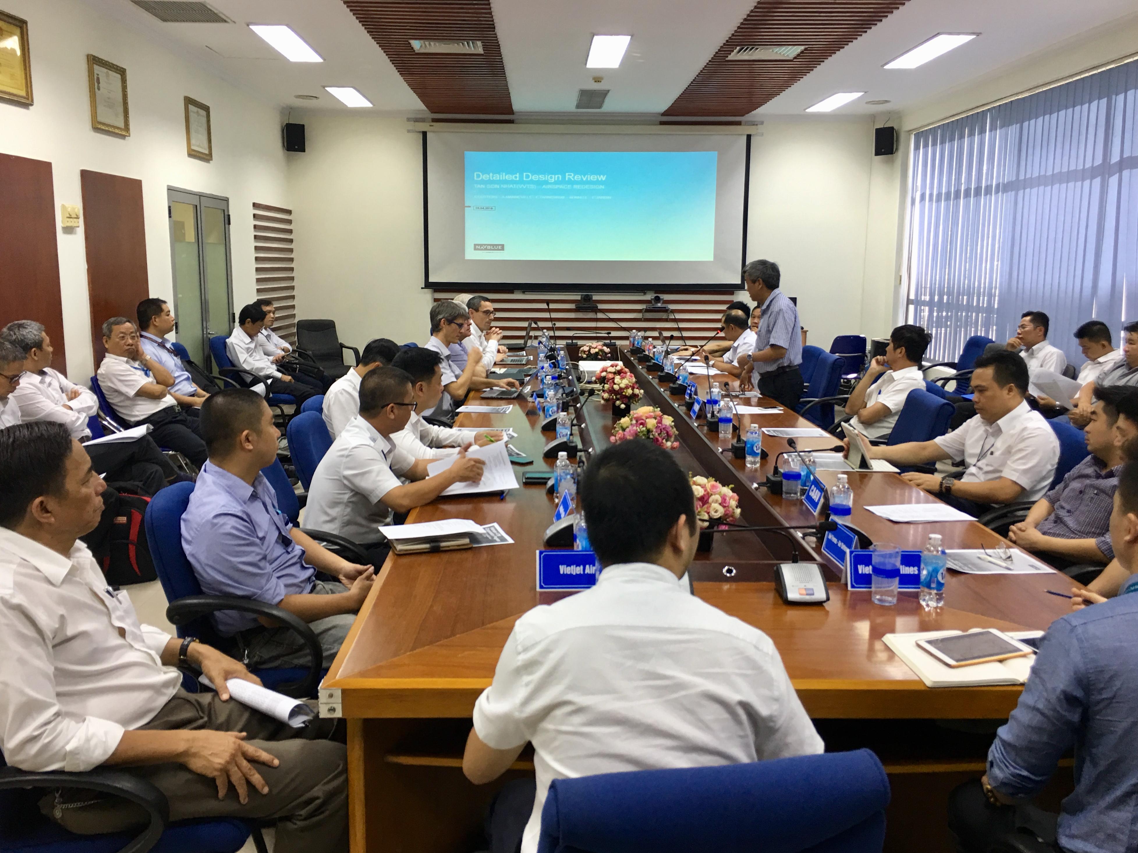 Chương trình Hợp tác Quản lý không lưu tại Việt Nam với Công ty NAVBLUE S.A.S/Airbus: Họp rà soát Thiết kế chi tiết phương thức bay khu vực sân bay Tân Sơn Nhất (VVTS DDR)