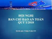 VATM: Hội nghị Ban chỉ đạo An toàn Quý 1 năm 2018