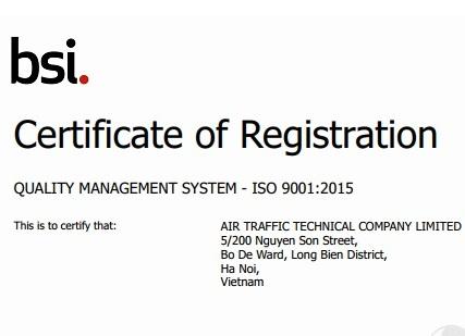 Công ty TNHH Kỹ thuật quản lý bay thực hiện chuyển đổi thành công hệ thống Quản lý chất lượng phiên bản ISO 9001:2008 sang phiên bản ISO 9001:2015