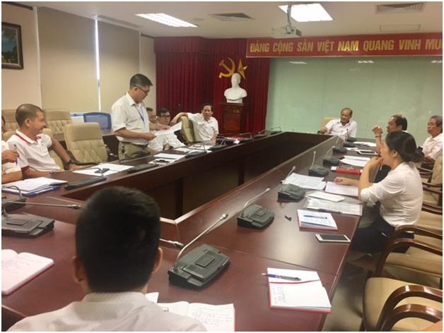Chi bộ Trung tâm Phối hợp tìm kiếm cứu nạn Hàng không sơ kết đợt I phong trào thi đua kỷ niệm 70 năm ngày Bác Hồ ra lời kêu gọi thi đua ái quốc
