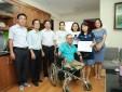 Công đoàn Cơ quan Tổng công ty thăm hỏi, tặng quà thương binh nặng Đinh Văn Dương