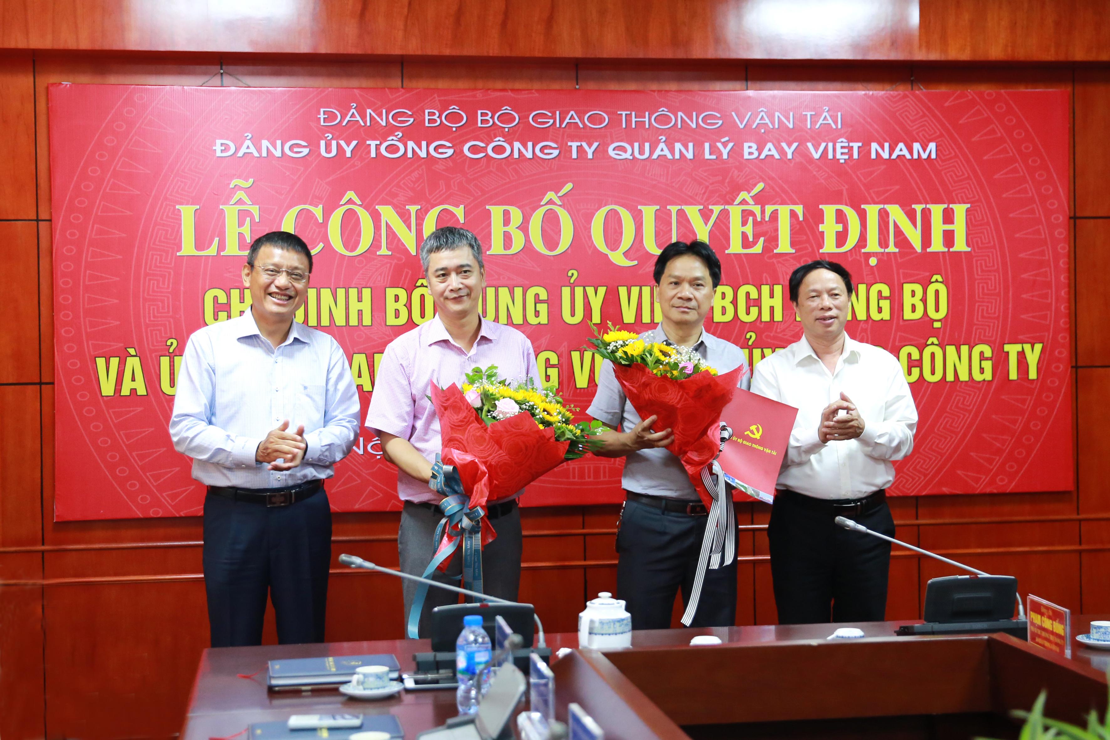 Lễ công bố Quyết định chỉ định bổ sung Ủy viên BCH Đảng bộ và Ủy viên Ban Thường vụ Đảng ủy Tổng công ty Quản lý bay Việt Nam