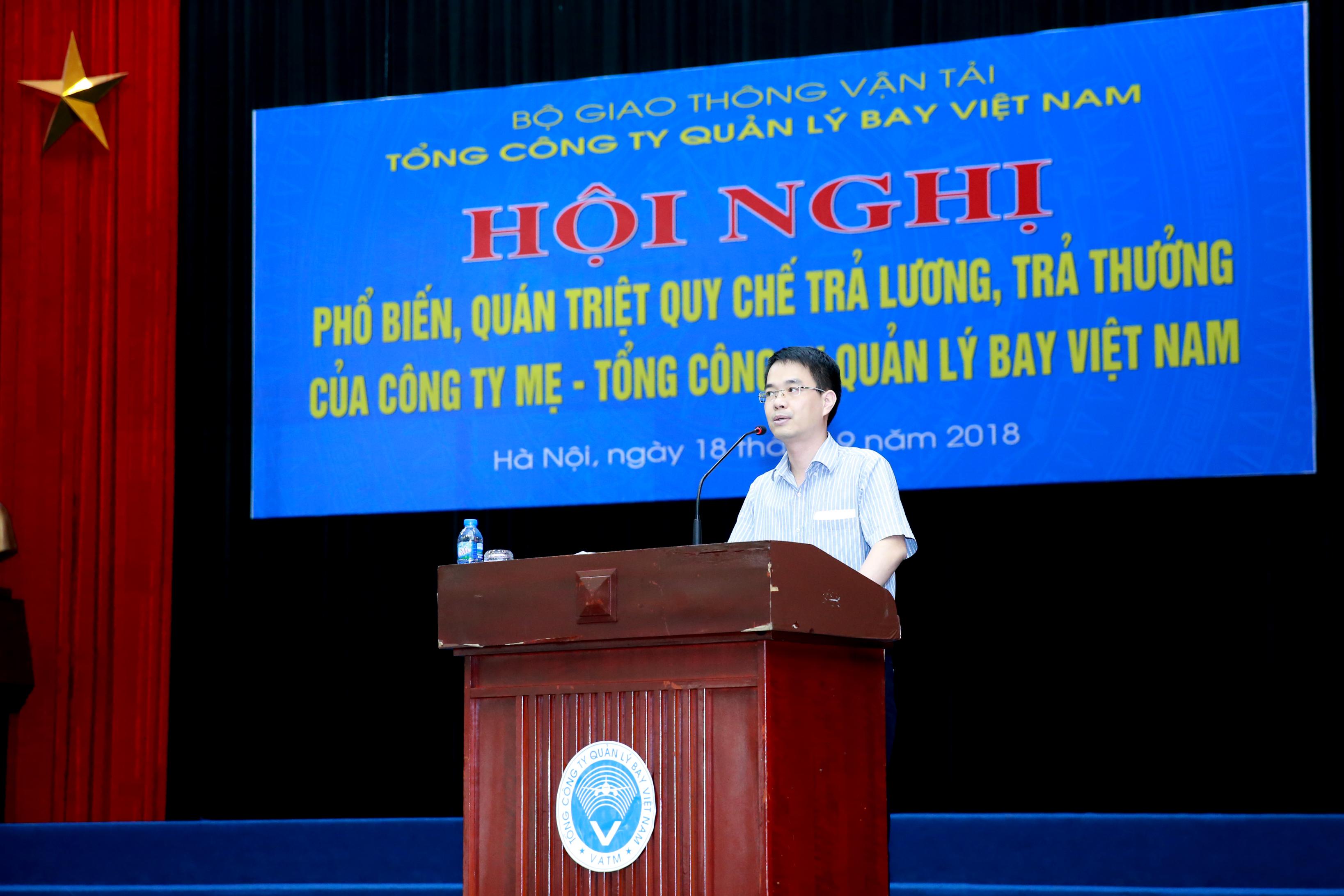 Phổ biến, quán triệt Quy chế Trả lương, trả thưởng mới của Công ty mẹ - Tổng công ty Quản lý bay Việt Nam