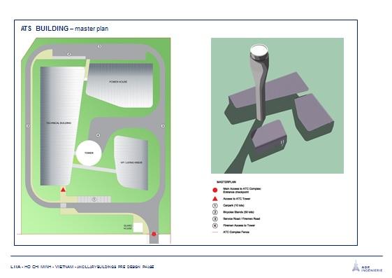 Phương án kiến trúc của đài Kiểm soát không lưu Long Thành