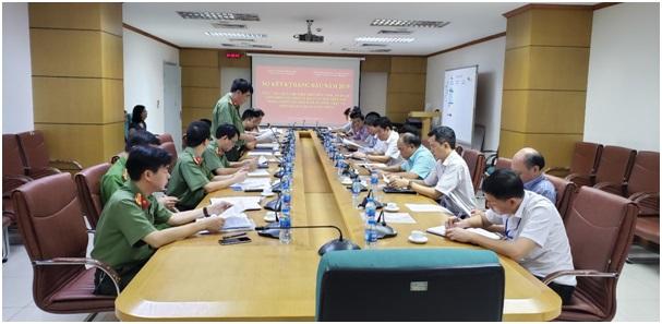Sơ kết thực hiện quy chế phối hợp giữa Công an quận Long Biên và Công ty Quản lý bay miền Bắc