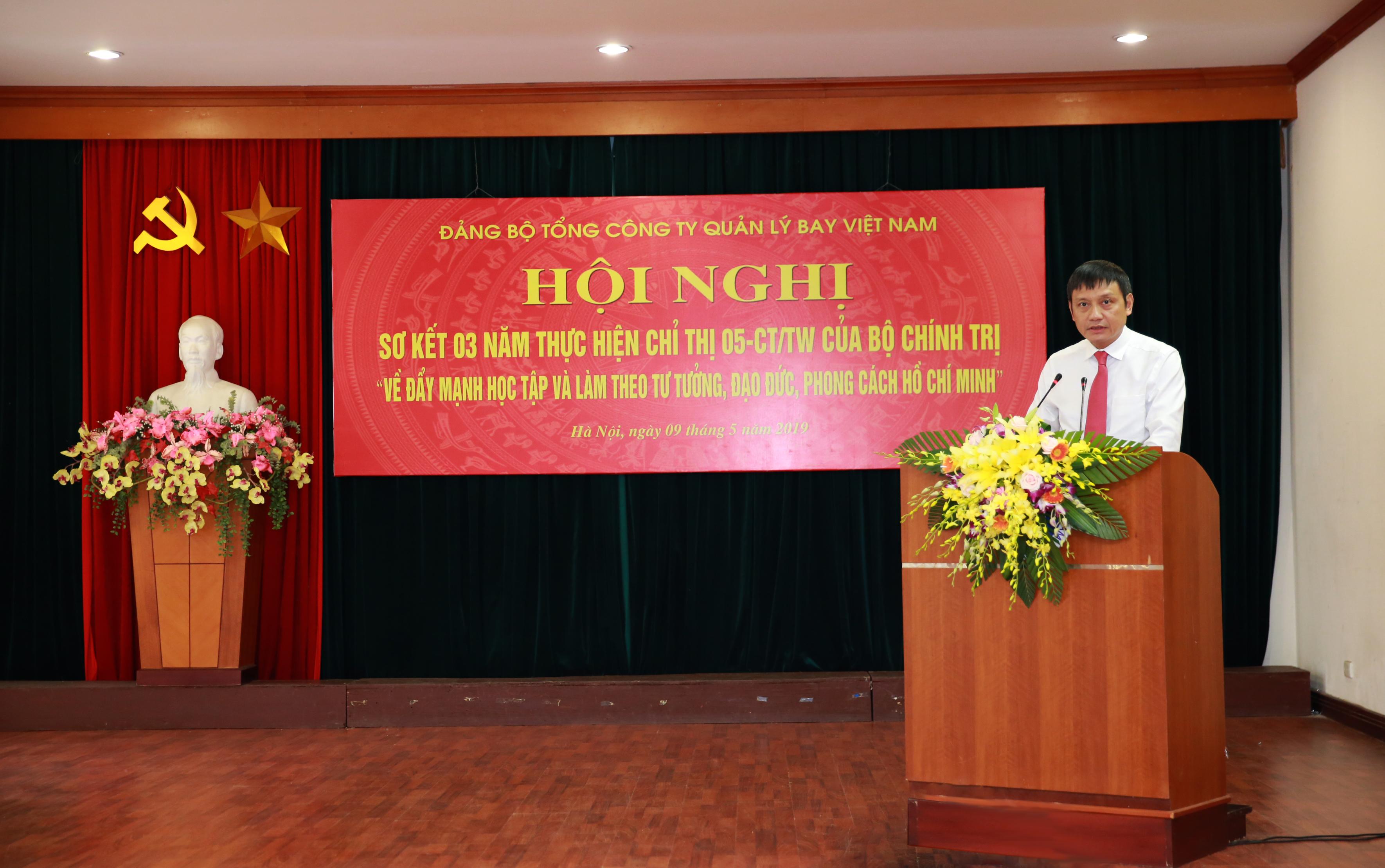 Đảng ủy VATM: Tổ chức sơ kết 3 năm thực hiện Chỉ thị số 05 - CT/TW của Bộ Chính trị về đẩy mạnh việc học tập và làm theo tư tưởng, đạo đức, phong cách Hồ Chí Minh