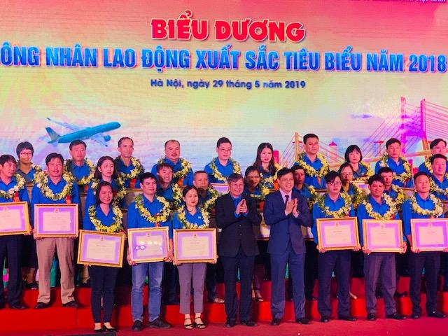 Công đoàn Giao thông vận tải Việt Nam tôn vinh Công nhân lao động xuất sắc tiêu biểu