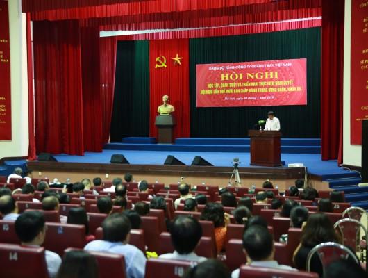 Đảng bộ Tổng công ty Quản lý bay Việt Nam tổ chức Hội nghị học tập, quán triệt và triển khai thực hiện Nghị quyết Trung ương 10 khóa XII của Đảng