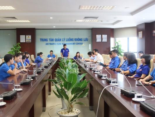 Đoàn cơ sở Trung tâm Quản lý luông không lưu: Đại hội Chi đoàn Khối Cơ quan nhiệm kỳ 2019 – 2022 và Lễ trưởng thành Đoàn năm 2019