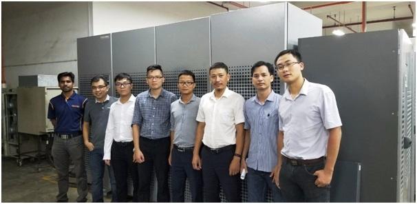 Nhân viên kỹ thuật của VATM tham gia khóa huấn luyện chuyên sâu khai thác bảo dưỡng hệ thống thiết bị UPS/STS