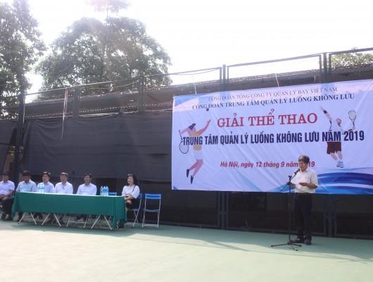 Trung tâm Quản lý luồng không lưu tổ chức giải thể thao năm 2019