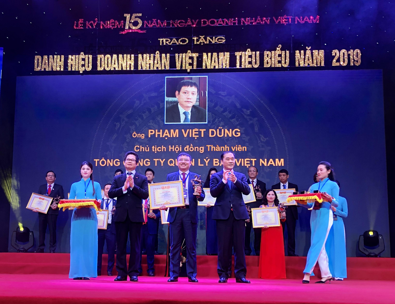 Chủ tịch Hội đồng thành viên Phạm Việt Dũng được trao tặng Danh hiệu Doanh nhân Việt Nam tiêu biểu 2019