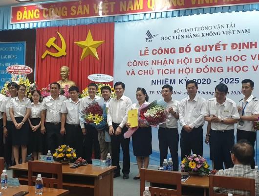 Chủ tịch HĐTV tham gia Hội đồng Học viện Hàng không Việt Nam nhiệm kỳ 2020-2025
