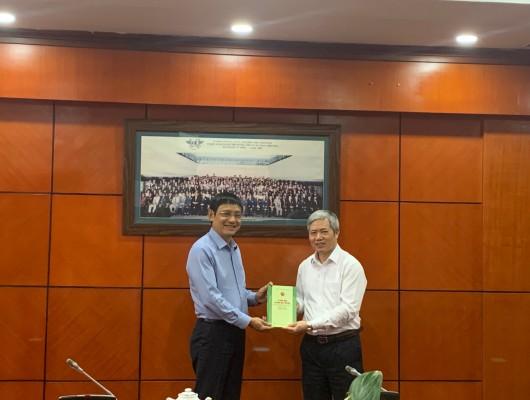 Đảng ủy Khối các cơ quan Trung ương làm việc với Thường trực Đảng ủy VATM về triển khai, thực hiện Chỉ thị 05 của Bộ Chính trị