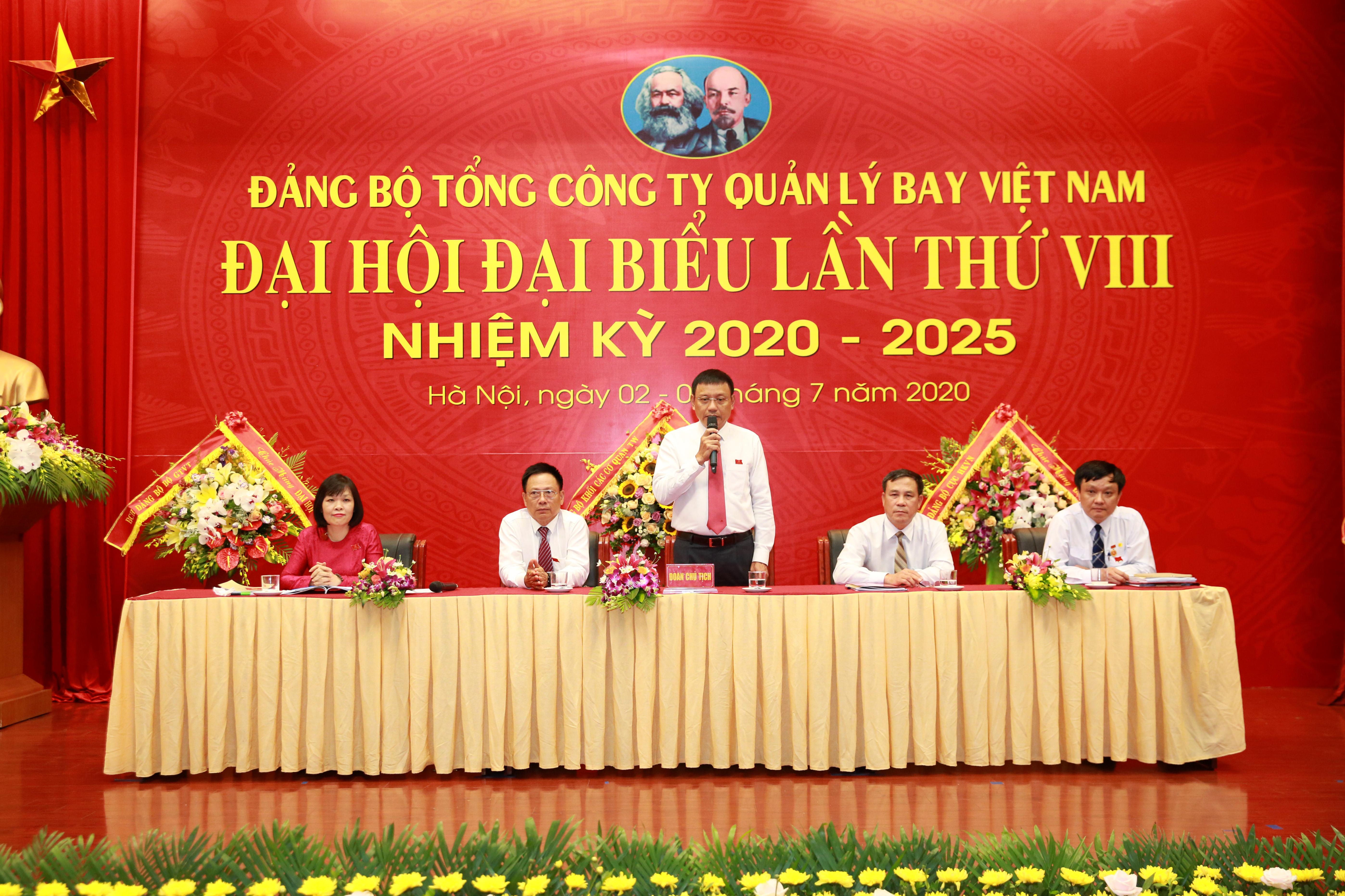 Khai mạc Đại hội đại biểu Đảng bộ Tổng công ty Quản lý bay Việt Nam lần thứ VIII, nhiệm kỳ 2020-2025
