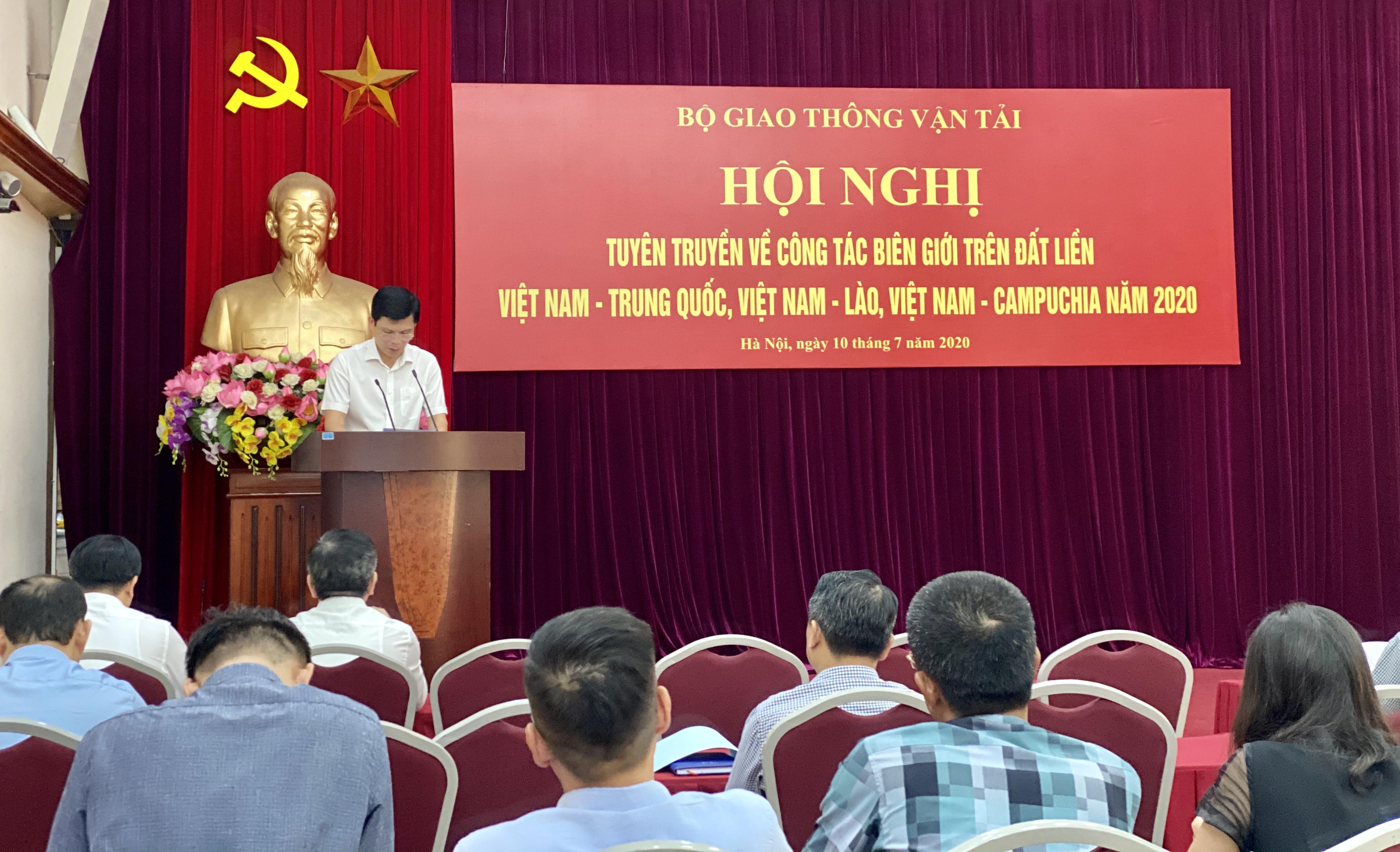 Bộ GTVT tổ chức Hội nghị tuyên truyền về công tác biên giới trên đất liền