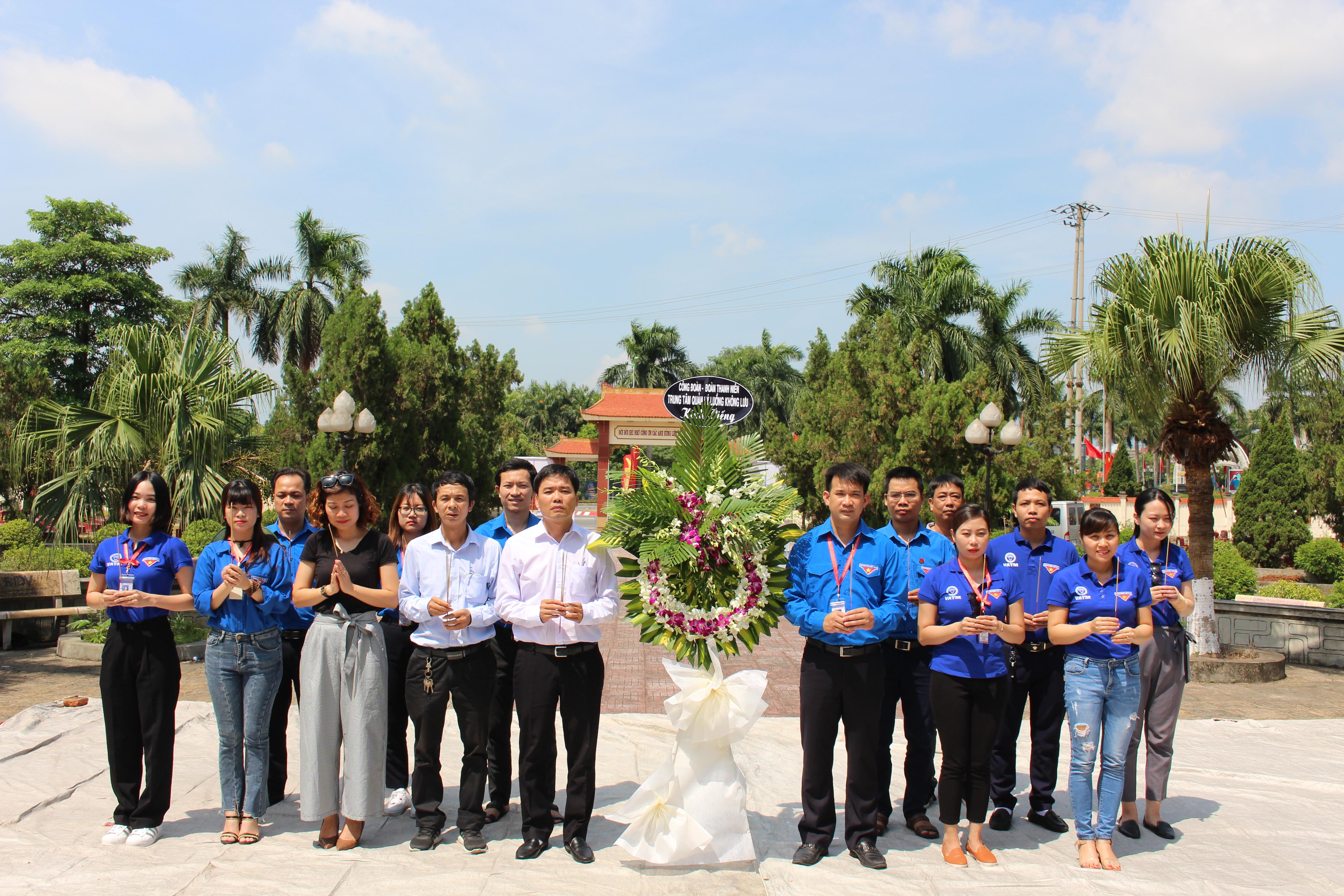Công đoàn, Đoàn thanh niên Trung tâm Quản lý luồng không lưu tổ chức hoạt động kỷ niệm 73 năm Ngày Thương binh Liệt sỹ