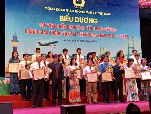 Công đoàn Giao thông vận tải Việt Nam tổ chức tôn vinh điển hình tiên tiến ngành Giao thông vận tải giai đoạn 2016-2020
