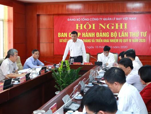 Đảng ủy VATM: Tổ chức Hội nghị Ban Chấp hành Đảng bộ Tổng công ty lần thứ IV, khóa VIII, nhiệm kỳ 2020-2025