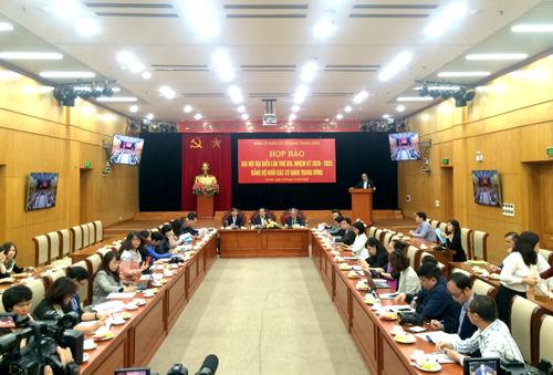 Thông cáo báo chí về Đại hội đại biểu Đảng bộ Khối các cơ quan Trung ương lần thứ XIII, nhiệm kỳ 2020 - 2025
