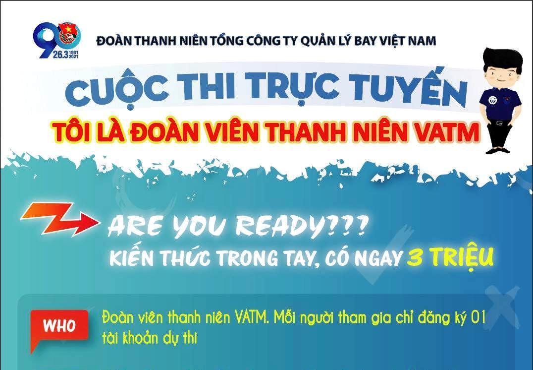 """Cuộc thi trực tuyến """"Tôi là đoàn viên thanh niên VATM"""""""
