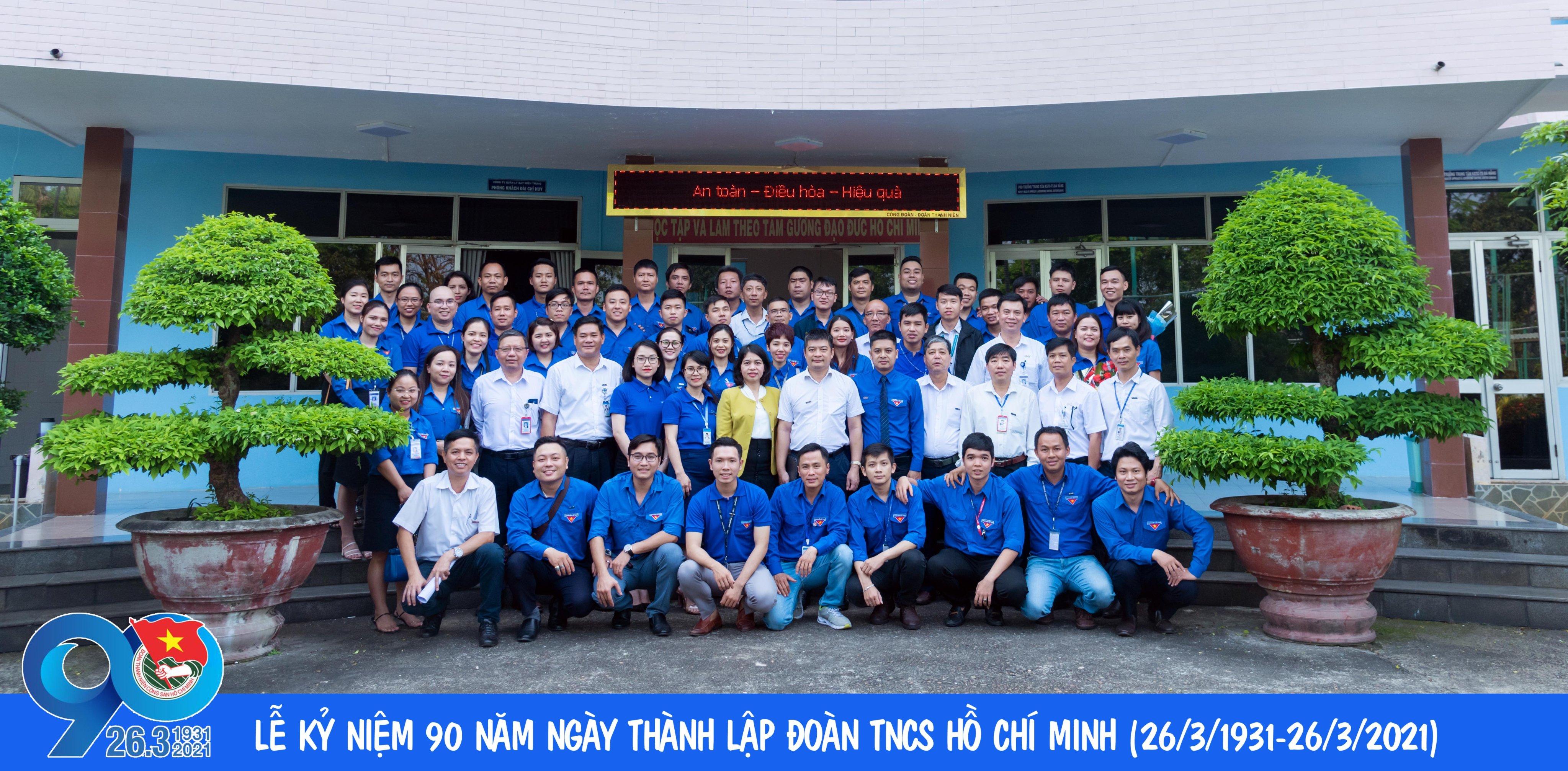 Đoàn Thanh niên Công ty Quản lý bay miền Trung: Kỷ niệm 90 năm Ngày thành lập Đoàn, tuyên dương thanh niên tiêu biểu và Trưởng thành Đoàn năm 2021