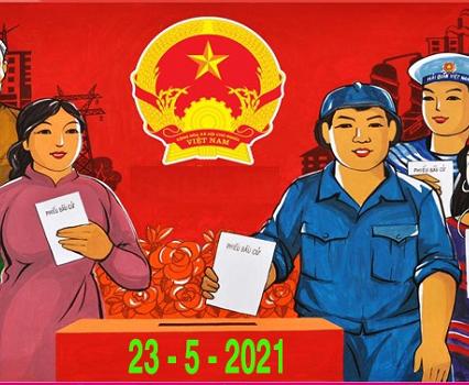 Lực lượng trực chốt khu vực Đà Nẵng tiến hành bầu cử đại biểu Quốc hội và Hội đồng nhân dân các cấp