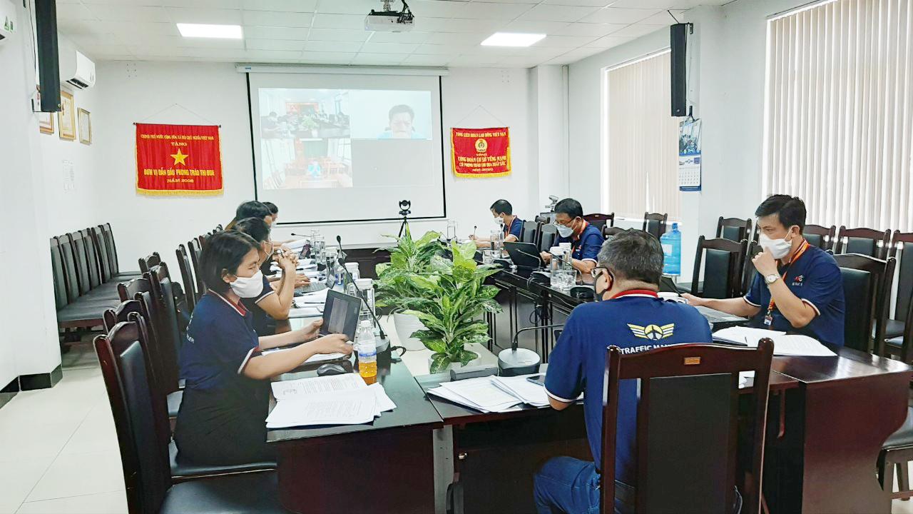 Công đoàn Công ty Quản lý bay miền Trung sơ kết hoạt động 6 tháng đầu năm 2021